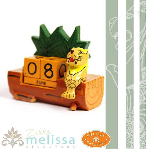 マーライオン木彫りカレンダー(メリッサ雑貨)