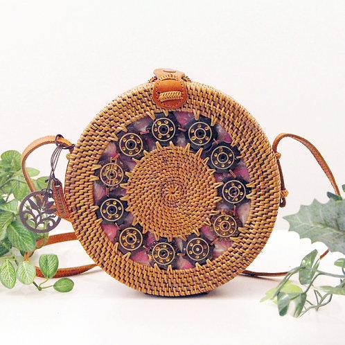 Ata Decorated Round Sling Bag (Melissa Zakka)