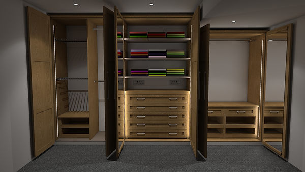 Organised space bedrooms 3D design