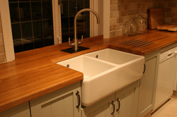 Painted and Oak Kitchen Design