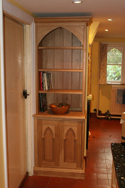 Gothic Oak Bookcase
