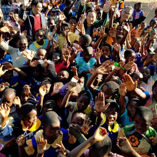 Children with joy!