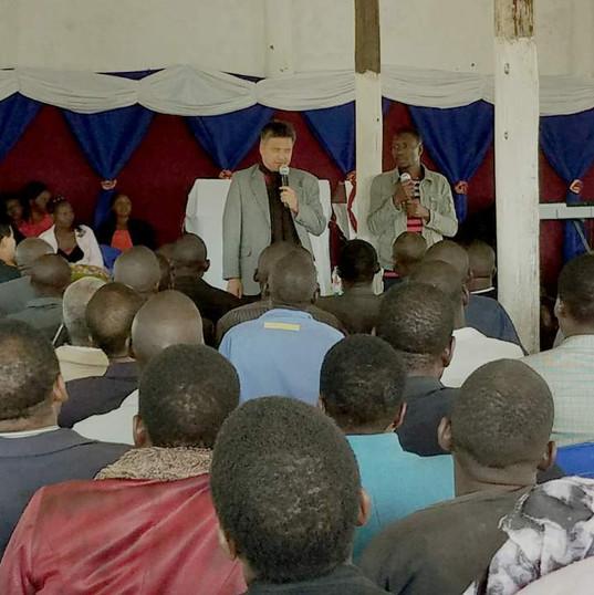 Attending Sunday service in Blantyre
