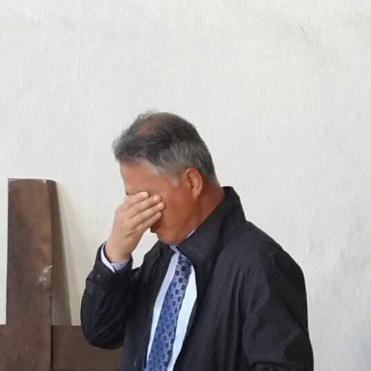 Hee Park giving testimony at church of Malawian prison