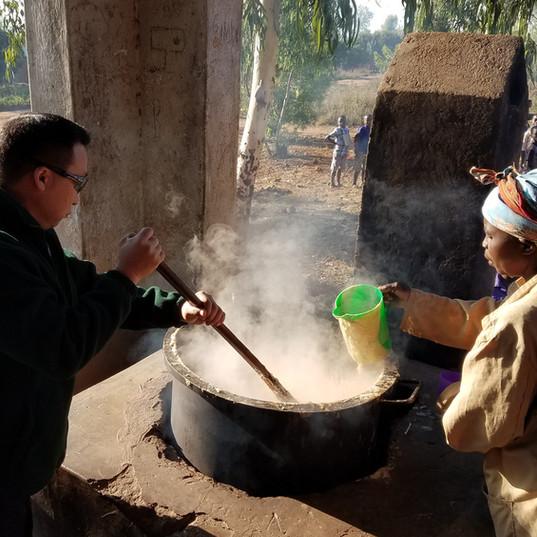 Preparing meals for children
