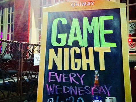 Come out for Board Game Night upstairs a