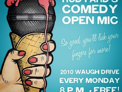 Open Mic Comedy in our upstairs living r