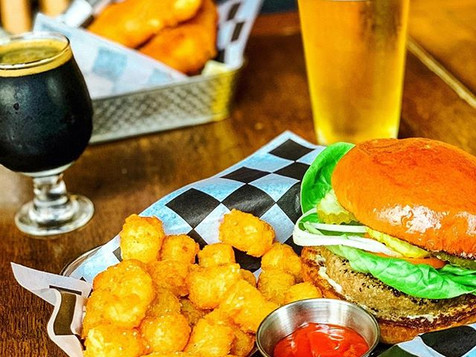 Our burger and tots are a slam-dunk for