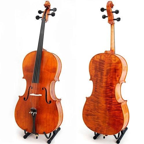 Cello Cecilio acabado en aceite en madera solida flameado