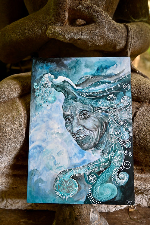 Mother of The Sacred Spring Original Painting