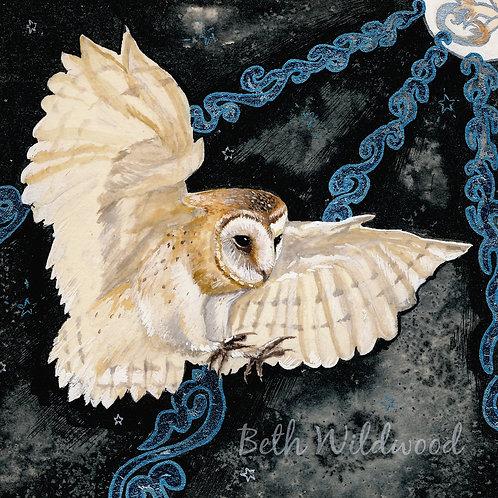 Moon Owl Giclee print