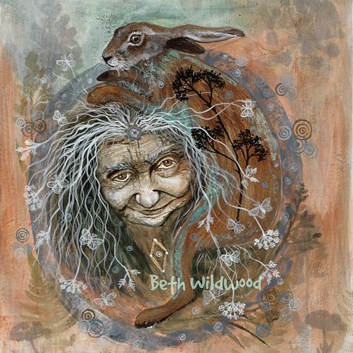 Earth Magic ......  The Hag and The Hare Giclee Print