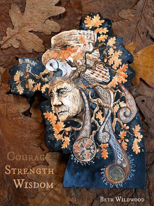 Spirit of Oak..... Spirit Figure made from wood