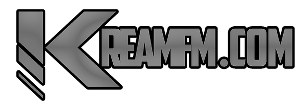 KreamFM.Com logo white bkgrnd spaced out