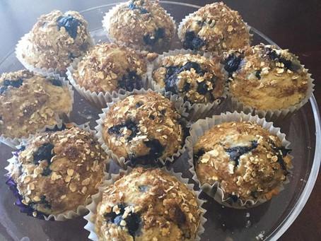 YUM YUM Blueberry Muffins (sugar free)