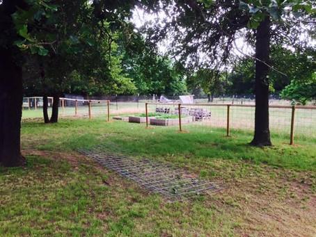 Fence building on the farm