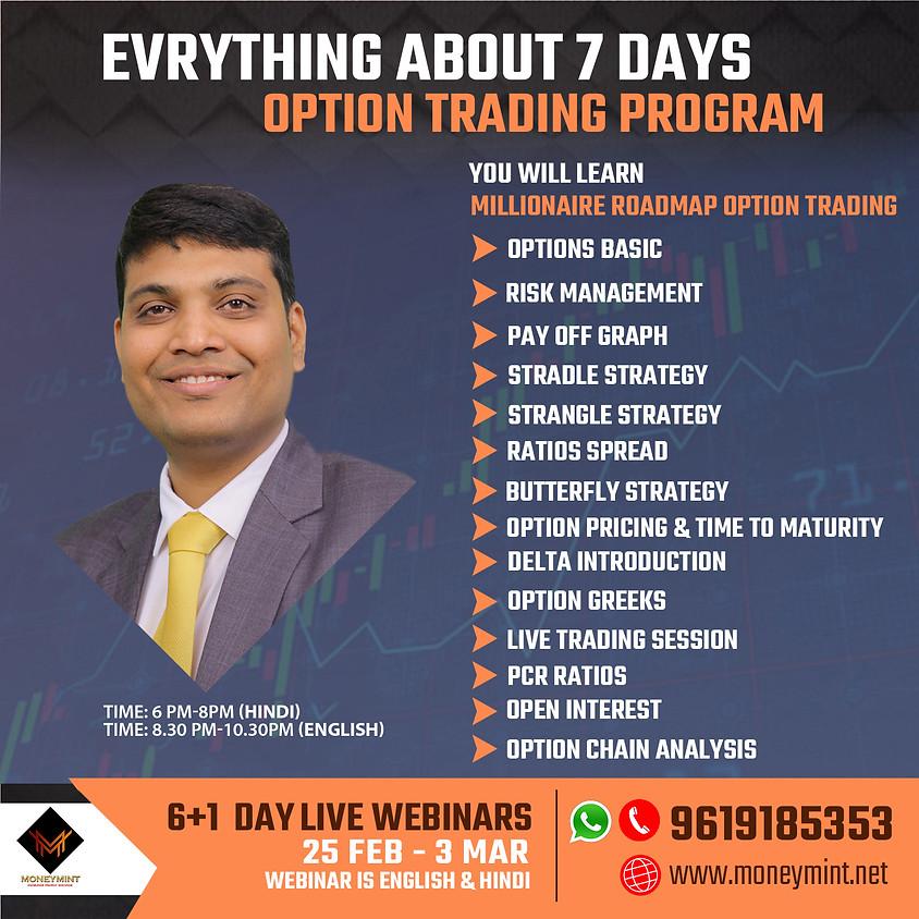 6+1 Days Option Trading Live Webinar