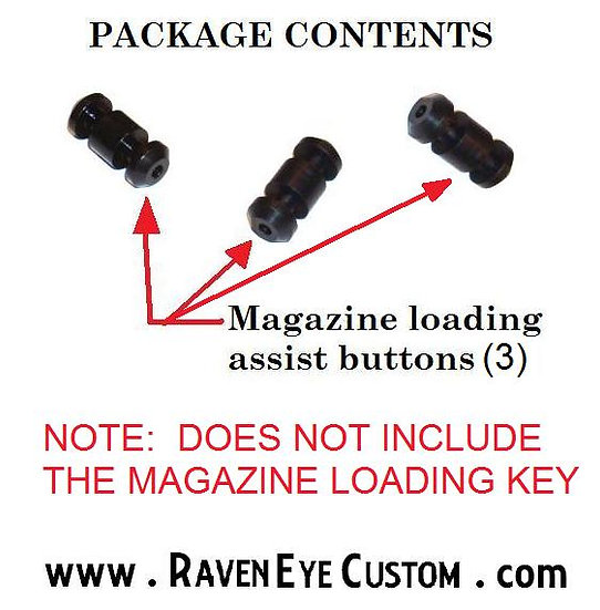 Loading assist button (Black) 3 pack (no loading tool)