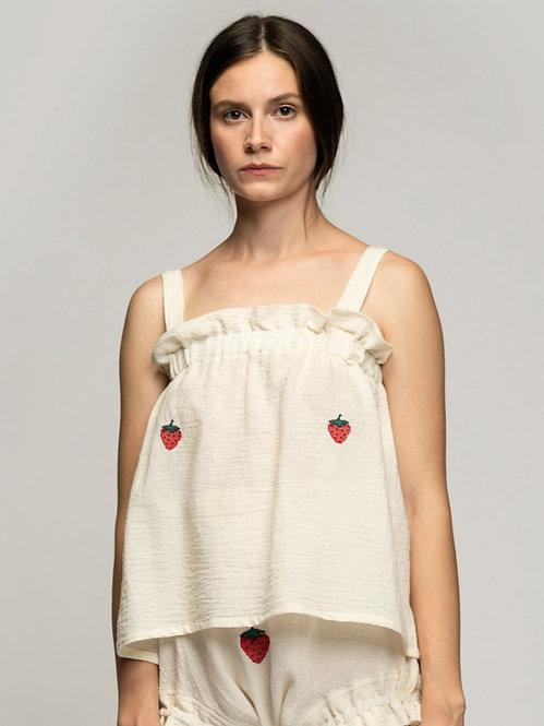 Cosy Cotton Bralette * Strawberry