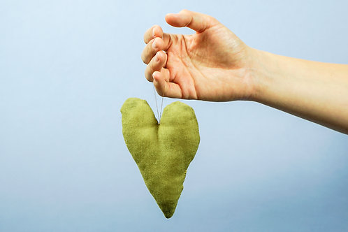 Natural Dyed Christmas Decoration * Heart no. 2