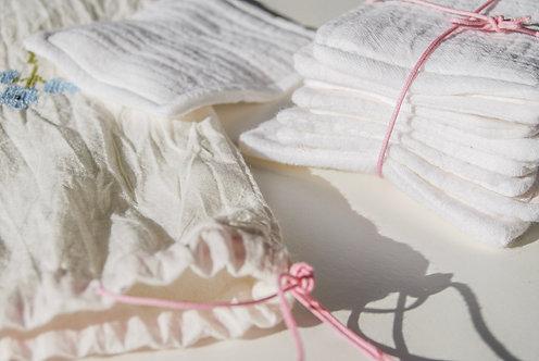 Reusable Makeup Remover Cotton Pads - Set of 12