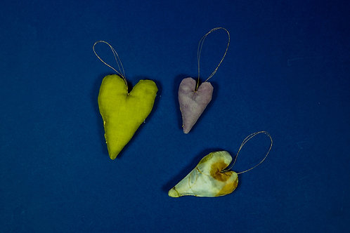 Natural Dyed Christmas Decoration * set of three