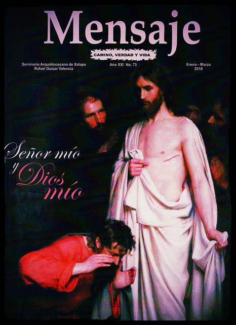 Revista Mensaje. Enero - Marzo 2018