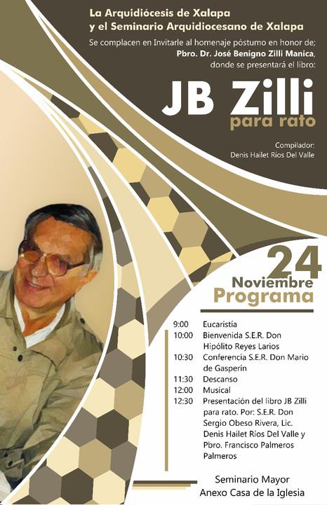 24 de noviembre de 2017: Homenaje póstumo en honor del Pbro. Dr. José Benigno Zilli Manica