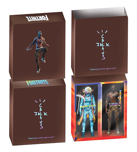 """CACTUS JACK FOR FORTNITE 12"""" ACTION FIGURE DUO SET"""