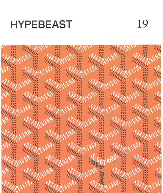 HYPEBEAST MAGAZINE ISSUE 19: THE TEMPORAL ISSUE  GOYARD ORANGE COVER