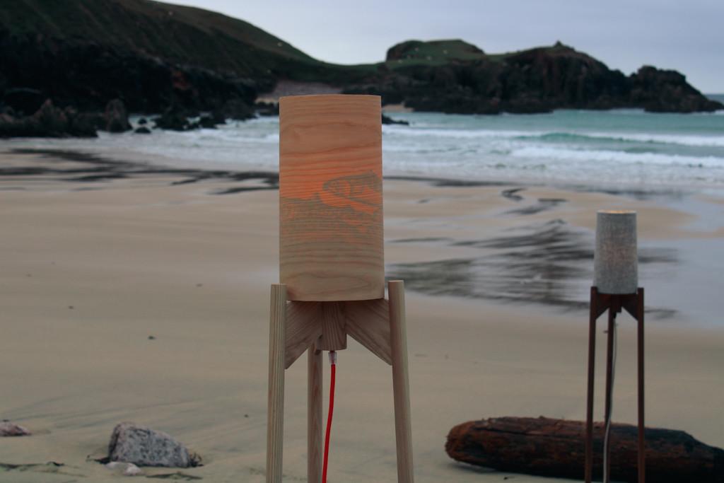 Mangersta Beach - Lasair Beag Standing Lamp