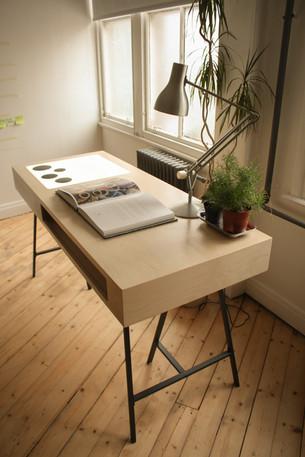 Birch Ply Designer Office Desk