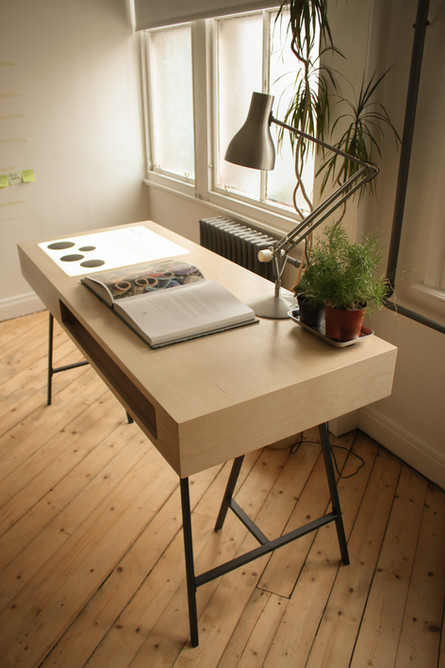 Birch Ply Designer Office Desk