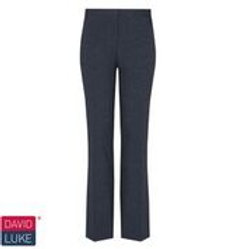 Girls Navy Slim Leg Trouser (sizes W22 to W28)