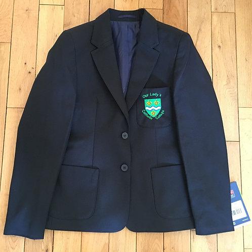 """OLCC Girls Eco Navy Blazer (sizes 24"""" to 37"""")"""