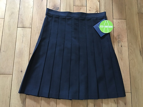 Girls Navy Pleated Skirt (Waist Size 30 to 38)