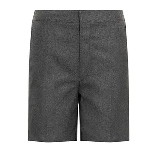 Grey Classic Shorts, Flat front W20 to W28