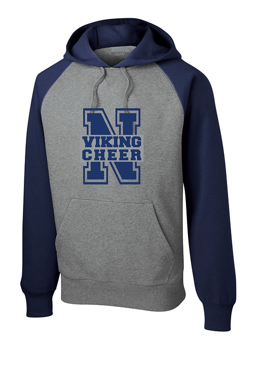 Viking Cheer Raglan Hoodie Glitter