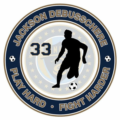 Removable Car Decal Soccer Design
