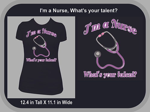 I'm A Nurse, What's your talent?  Purple