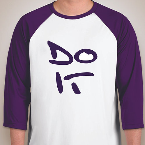 Purple 3/4 Sleeve Raglan Jersey