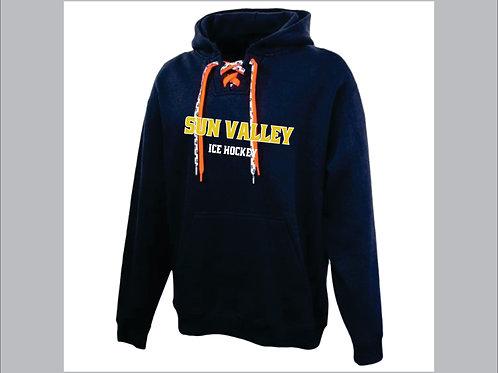 Navy Sun Valley Ice Hockey Faceoff Hoodie