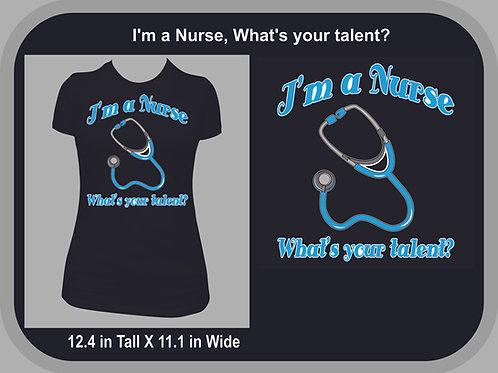 I'm a Nurse, What's your talent?  Blue