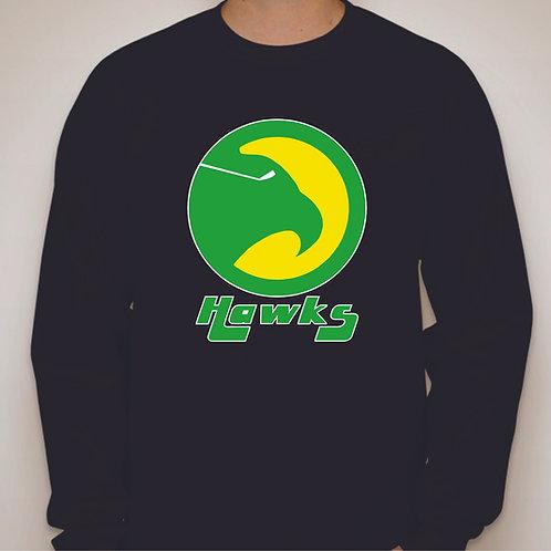 Retro Nighthawks Logo Long Sleeve T-shirt