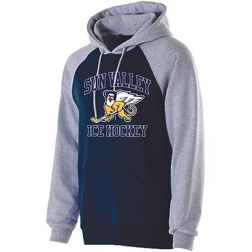 Two Tone Hooded Sweatshirt, Vanguard Design