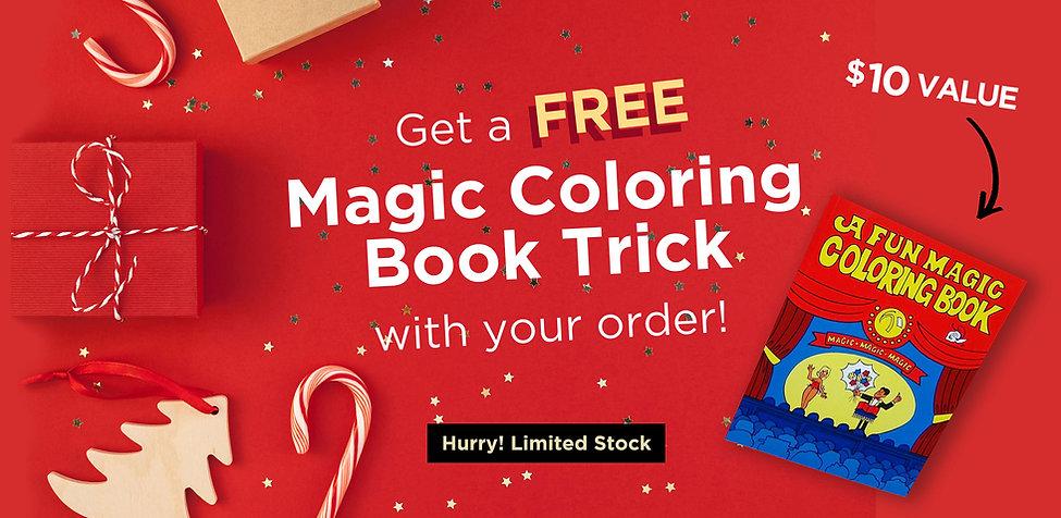 Get  bonus trick - a magic coloring book inclued in every kit