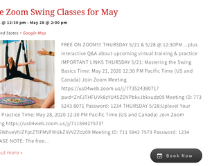MAY: FREE Zoom classes & virtual online training
