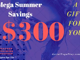 Mega summer savings & Fall specials