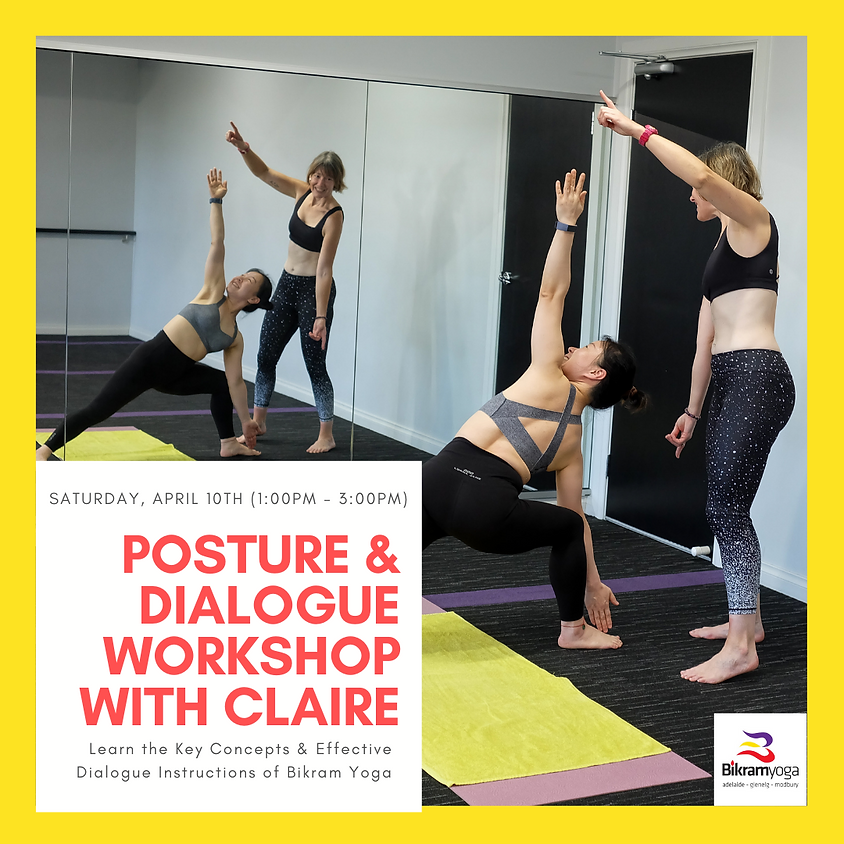 Posture & Dialogue Workshop with Claire