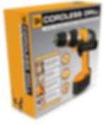 Cordless drill packaging design for JCB